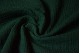 Musselin Uni flaschengrün