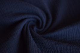 Musselin Uni dunkelblau