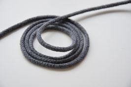 Baumwollkordel dunkelgrau meliert, 3mm