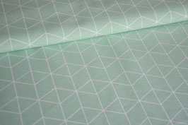 Canvas Raute mint