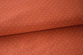 Baumwolljersey Mini Dots, rostorange