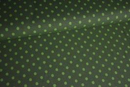 Jersey Punkte grün auf dunkelgrün