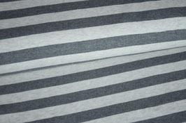 Feinripp Strick Jersey gestreift grau/hellgrau