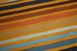 French Terry Stripes, braun