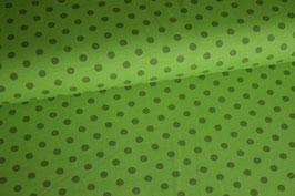 Jersey Punkte dunkelgrün auf grün