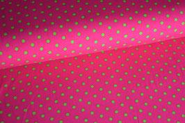Jersey Punkte grün auf pink