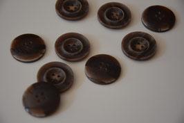 1 Stück Knopf, braun, 23mm