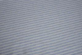 Jersey Melange Streifen groß hellblau