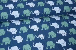 Baumwolljersey Elephant Parade, jeans