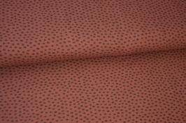 Baumwolljersey Punkte braun/schwarz