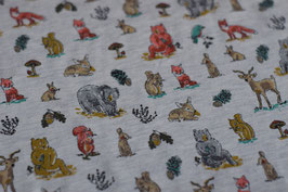 "Jersey ""Forest Animals"" ecru"