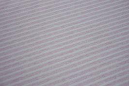 Jersey Melange Streifen klein rosa