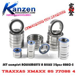 Ball Bearing Set TRAXXAS XMAXX 8S 77086-4 Série ACIER ABEC-5