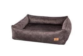 Box Bett Wechselüberzug | Plüsch Luna Antracite Überzug / Cover