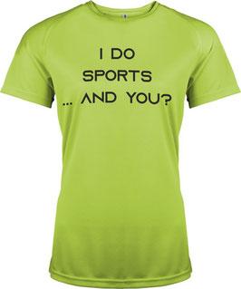 Sport Shirt mit Flex- oder Flock-Druck