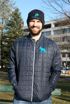 Herren Hybrid Jacke mit Flockdruck
