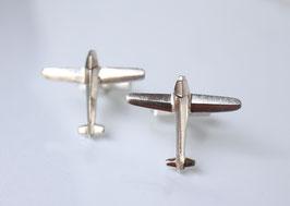 Manschettenknöpfe Flugzeug aus Silber