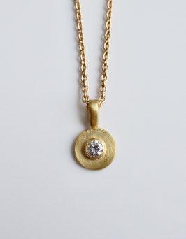 Diamantanhänger aus 900 Gold handgearbeitet