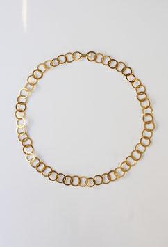 Goldkette mit handgeschmiedeten Ösen