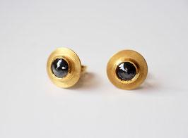 schwarze Diamantohrstecker aus 900 Gold