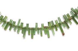 grüne Turmalin Kette mit Verschluss aus 900er Gold