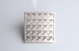 Brosche aus Silber gesägt und montiert