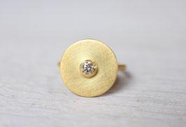 Goldring mit Diamant aus 900 Gold