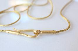 Fuchsschwanzkette aus Gold oder Silber mit handgearbeitetem Verschluss