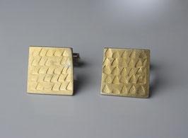 Manschettenknöpfe aus Silber und 900 Gold