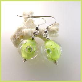 """Boucles d'oreilles en verre filé - """"Acibullées"""""""