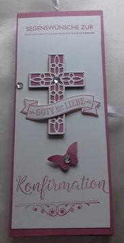 Schokoladenverpackung mit Kartenteil zur Kommunion oder Konfirmation