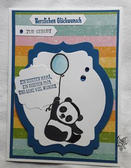 Karte zur Geburt Panda
