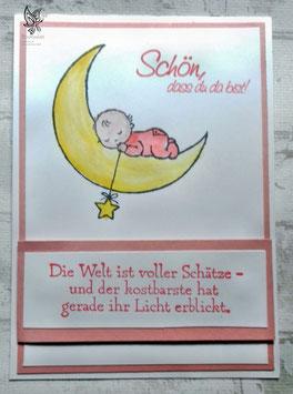 """Glückwunschkarte zur Geburt """"Mond"""""""