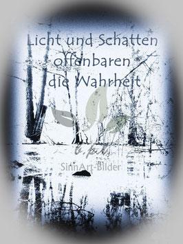 """""""Licht und Schatten"""" Leinwandbild 60x40x2 cm"""