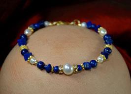 Perlen- Lapislazuli- Armband