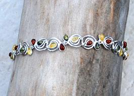 Bernsteinarmband multicolor