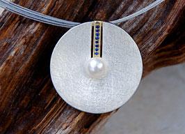 Perlen-Saphir-Kette