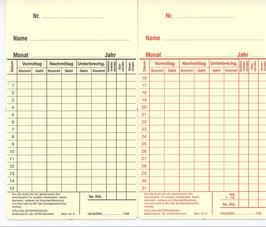 Stempelkarte Bestell-Nr. 6
