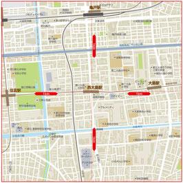 半径1km近隣地図