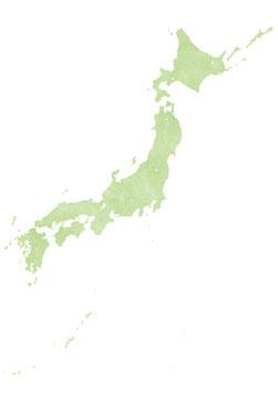 加工日本地図(水彩)