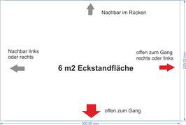 6 qm Eckstandfläche / 6 m2 corner-booth