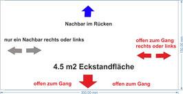 """3 m x 1.5 m Eckfläche für Secondhand-Läden (im Plan """"hellblau"""")"""
