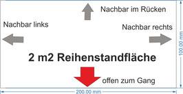 2 qm Reihenstandfläche / 2 m2 middle-booth