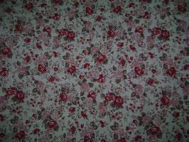 Lino rosas de flores.