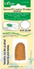 Dedal de cuero con fijación natural (medio)