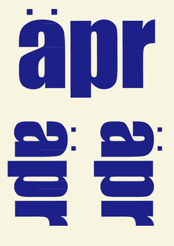 aprロゴステッカー(BLUE)