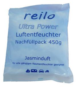 450g Ultra Power Jasminduft Luftentfeuchter Granulat (Calciumchlorid) im Vliesbeutel
