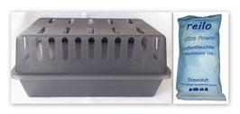 """XXL Box mit  1kg """"Ocean"""" Luftentfeuchter Granulat (Calciumchlorid) im Vliesbeutel"""