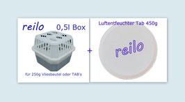 1x Raumentfeuchter Box Mini mit 1x 450g Luftentfeuchter TAB