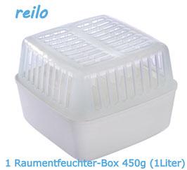 1Liter Raumentfeuchter Box leer, für 450g Luftentfeuchter Granulat im Vliesbeutel
